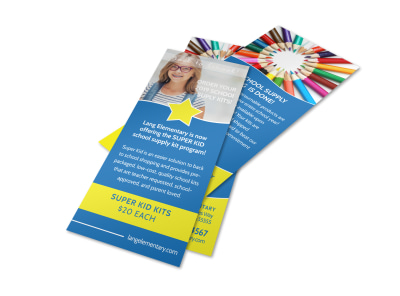 Blue Back To School Flyer Template