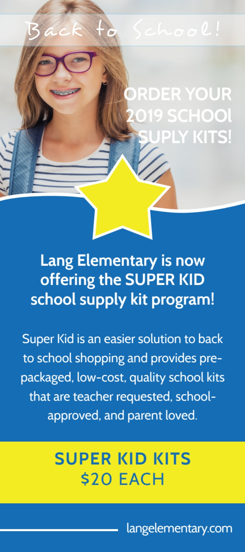 Blue Back To School Flyer Template Preview 2
