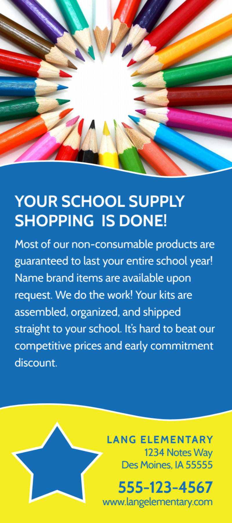 Blue Back To School Flyer Template Preview 3