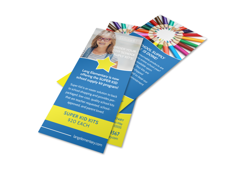 Blue Back To School Flyer Template Preview 1