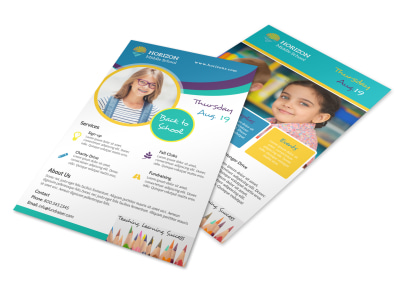 Fun Back To School Flyer Template preview