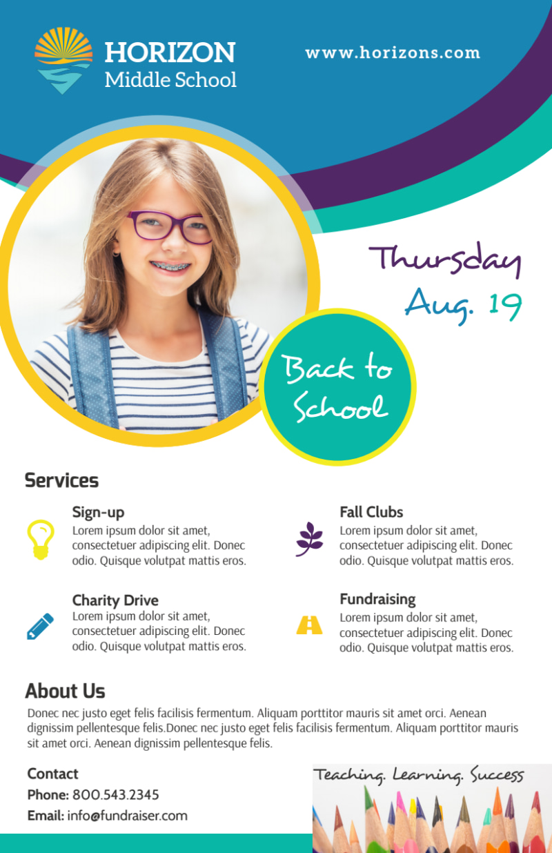 Fun Back To School Flyer Template Preview 2