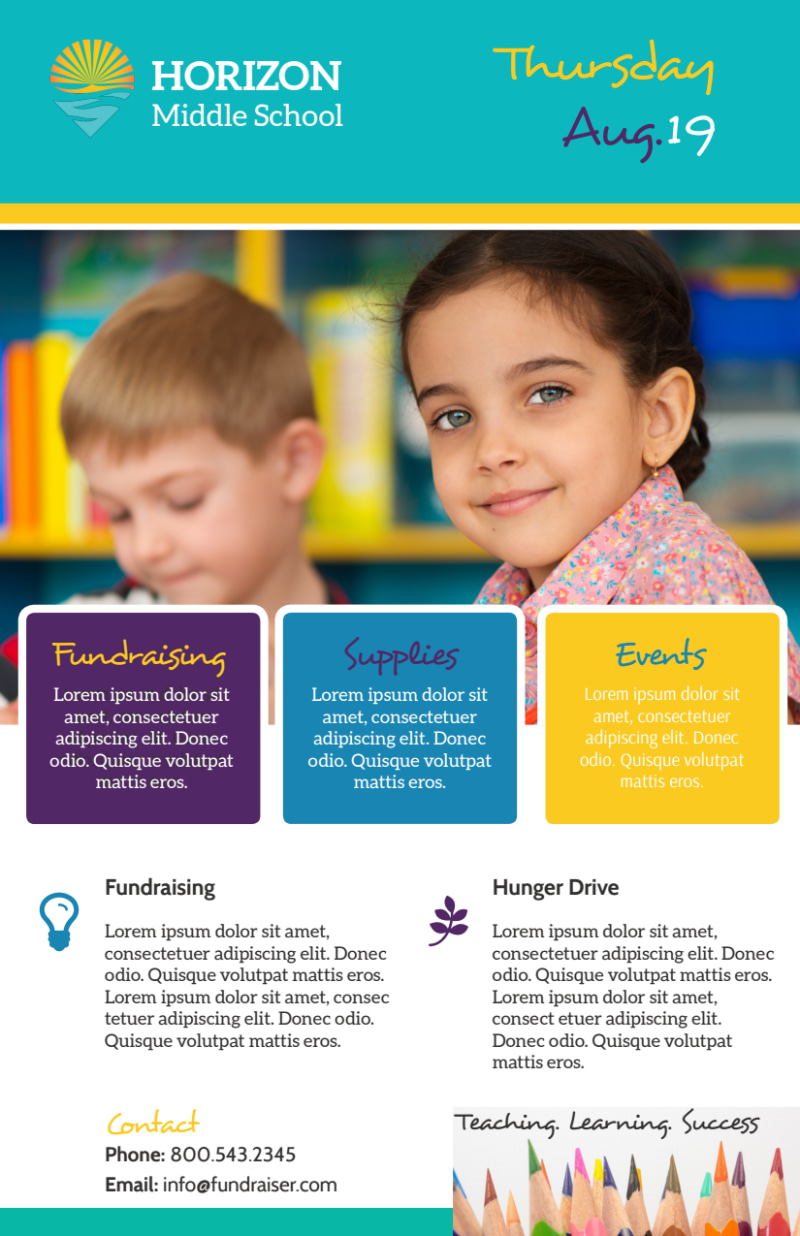 Fun Back To School Flyer Template Preview 3