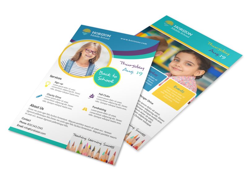 Fun Back To School Flyer Template Preview 1