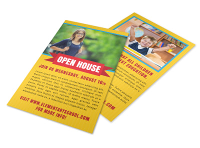 Yellow Back To School Flyer Template preview