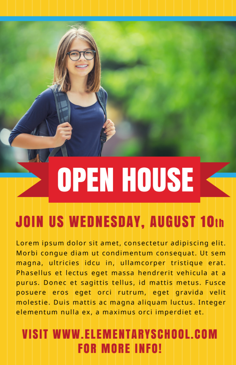 Yellow Back To School Flyer Template Preview 2