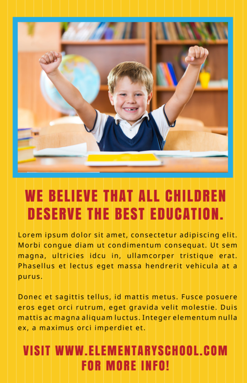 Yellow Back To School Flyer Template Preview 3