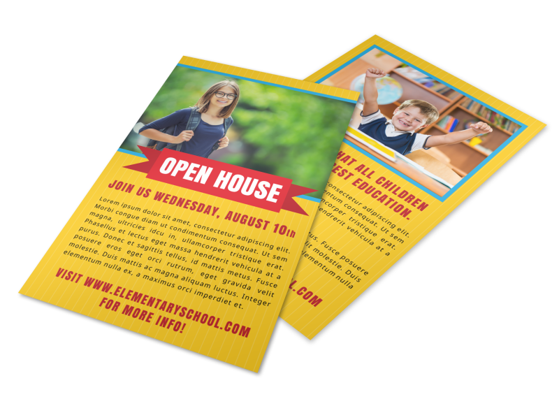 Yellow Back To School Flyer Template Preview 1