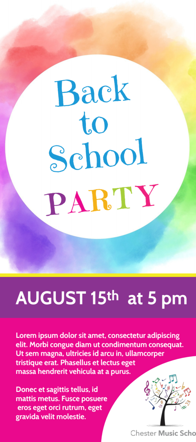 School Party Flyer Template Preview 2