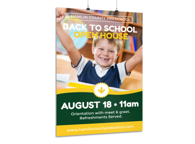 Open House School Poster Template preview