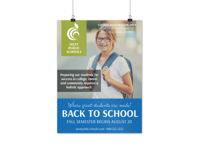 Fall Back To School Poster Template preview