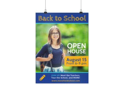 Back To School Open House Poster Template preview