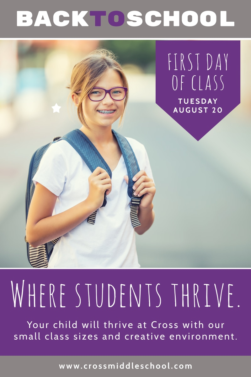 Purple Back To School Poster Template Preview 2