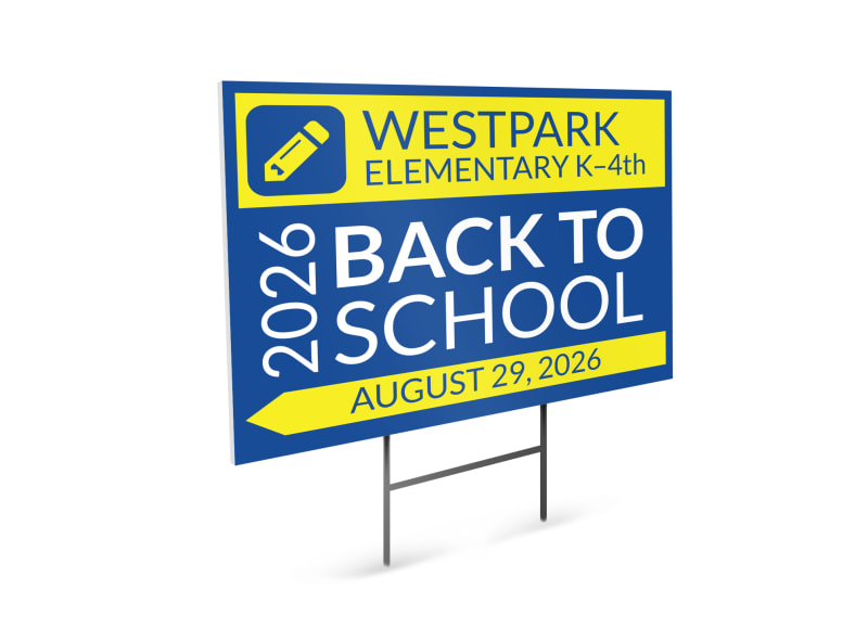 Back To School Yard Sign Template Preview 4