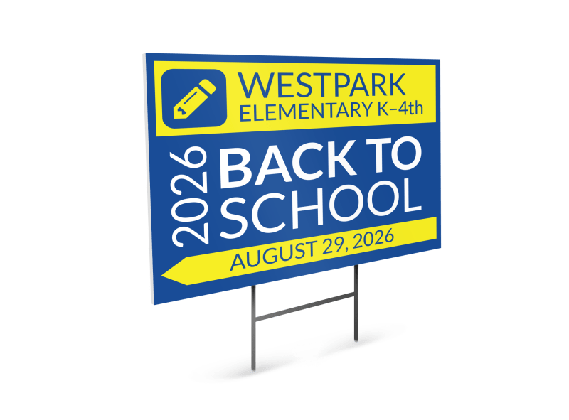 Back To School Yard Sign Template Preview 1