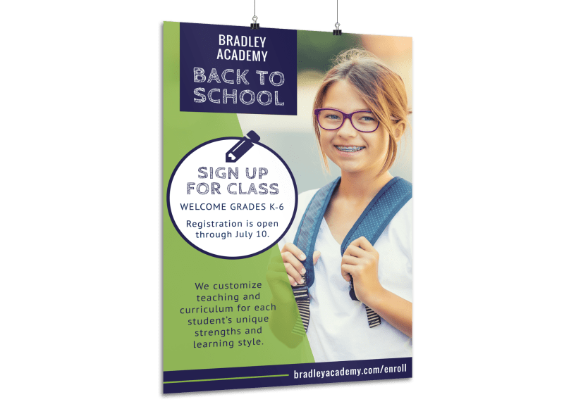 Back To School Sign Up Poster Template Preview 1