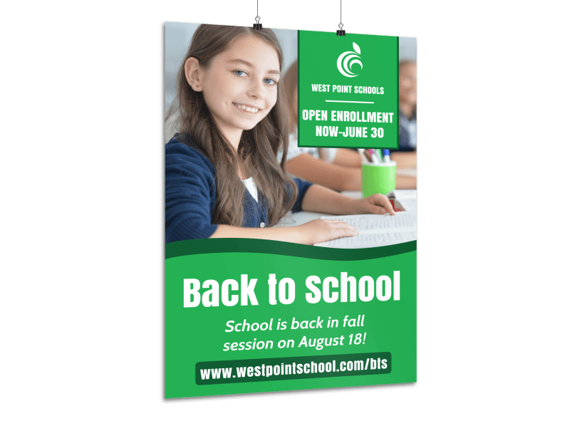Green Back To School Poster Template Preview 1