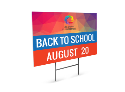 Playful Back To School Yard Sign Template preview