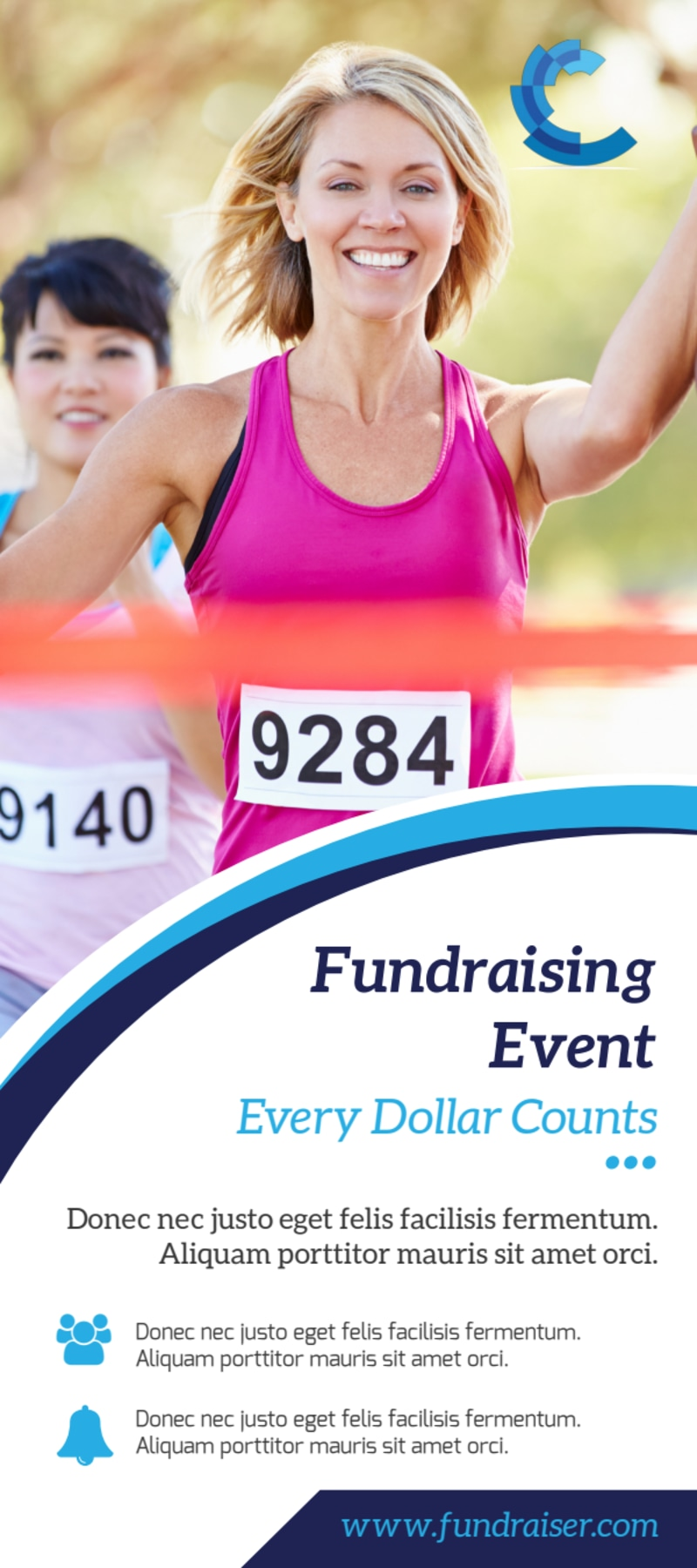 Great Fundraising Event Flyer Template Preview 2