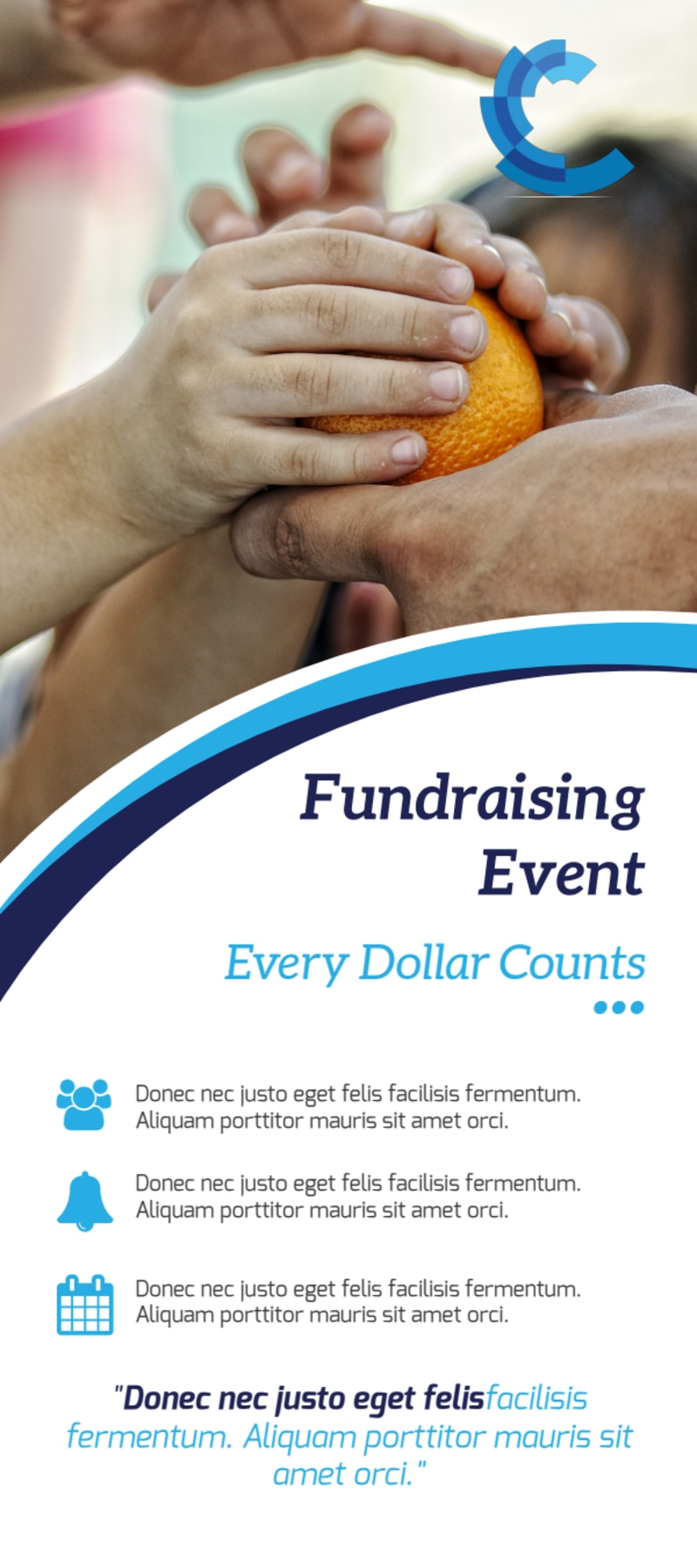 Great Fundraising Event Flyer Template Preview 3