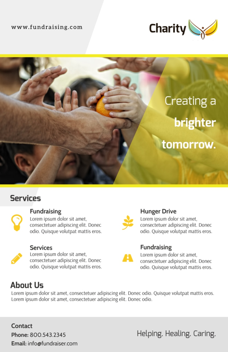 Charity Fundraising Flyer Template Preview 2