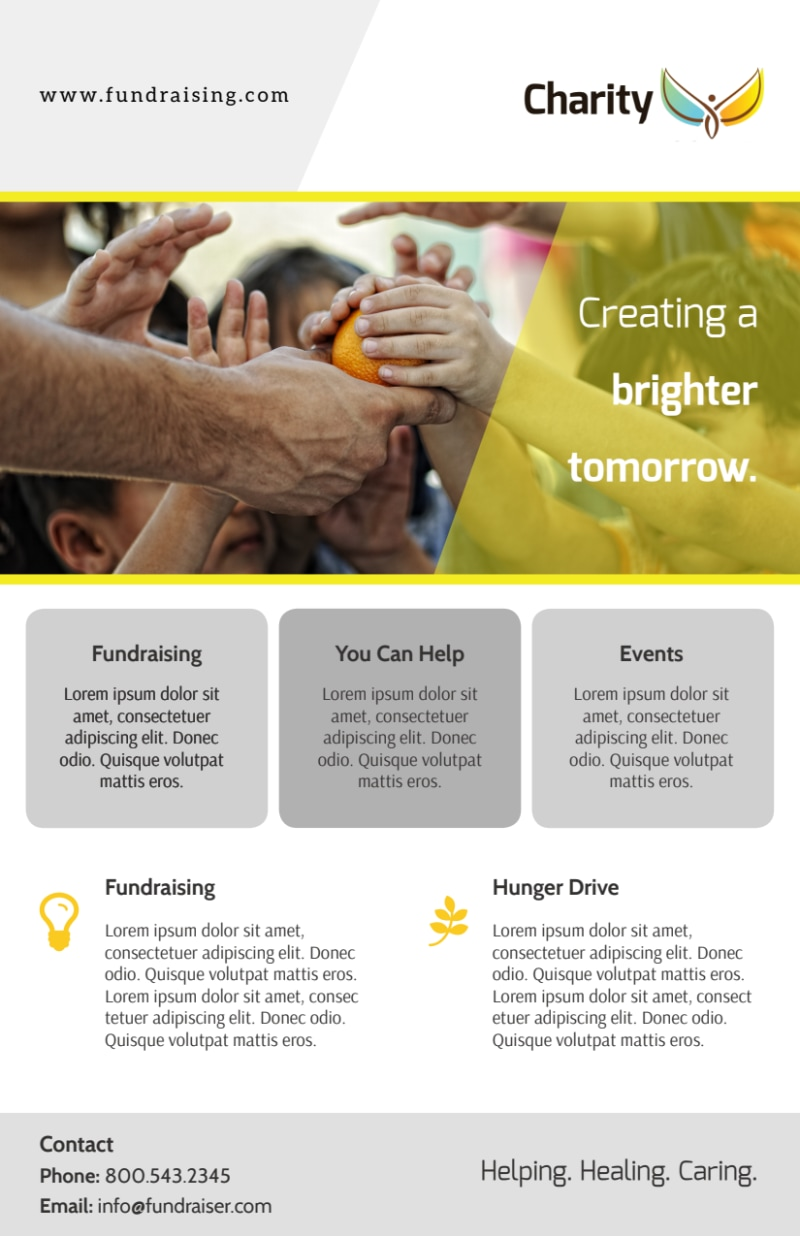 Charity Fundraising Flyer Template Preview 3