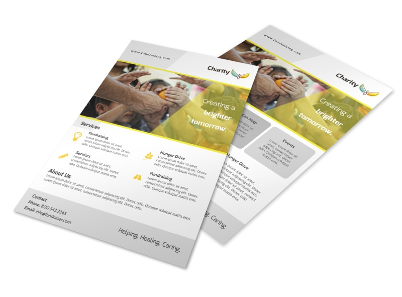 Charity Fundraising Flyer Template