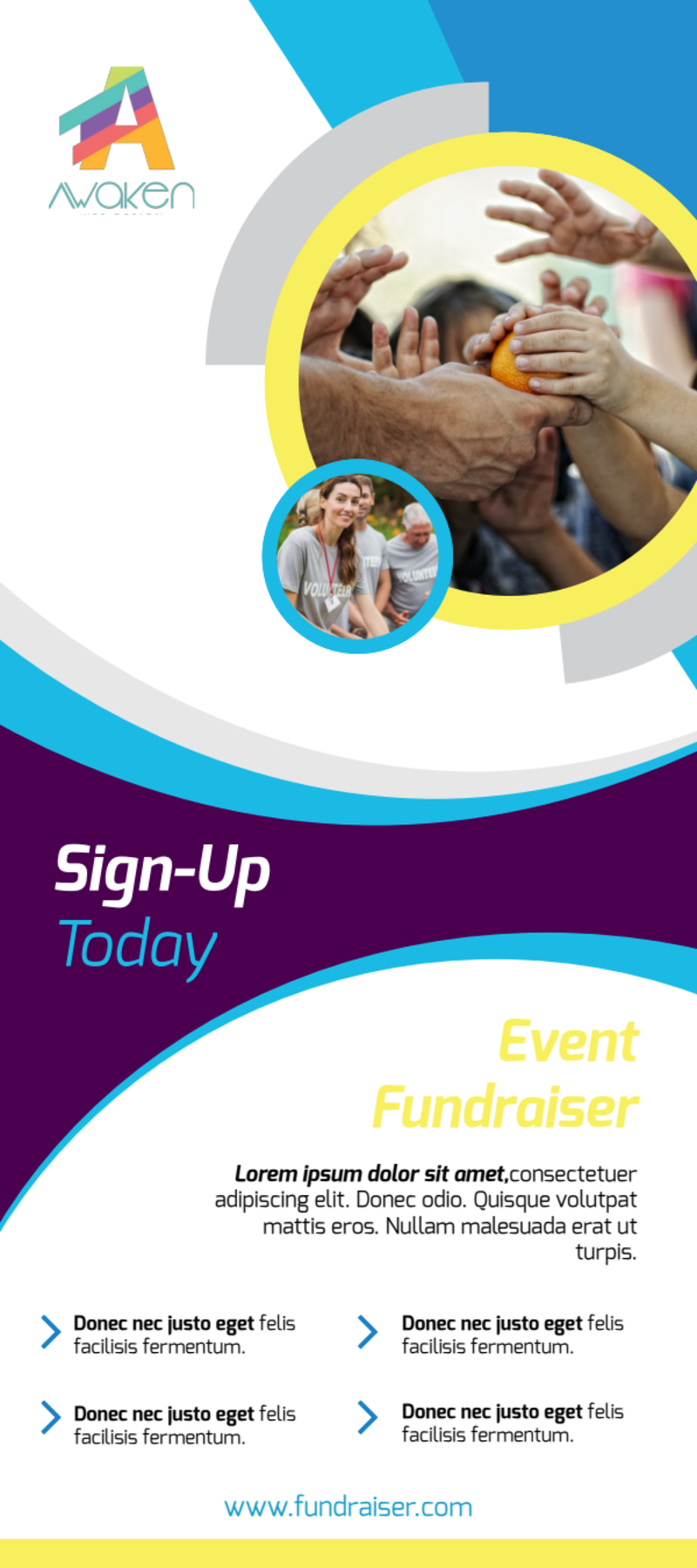 Colorful Fundraising Event Flyer Template Preview 2