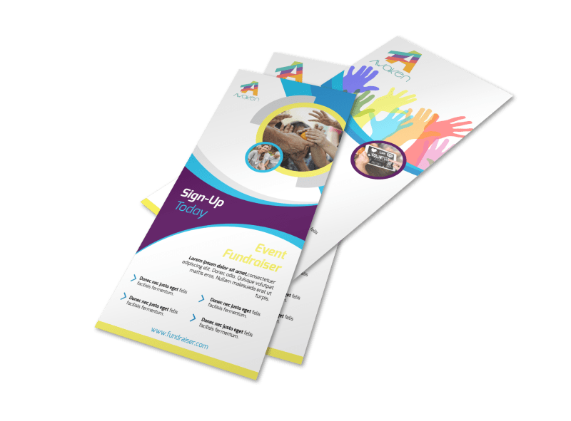 Colorful Fundraising Event Flyer Template Preview 1
