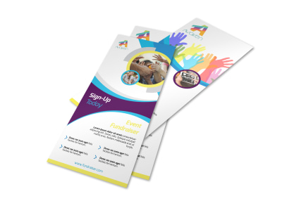 Colorful Fundraising Event Flyer Template preview