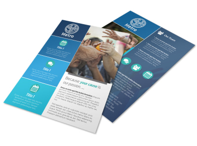 Fundraising Cause Flyer Template preview