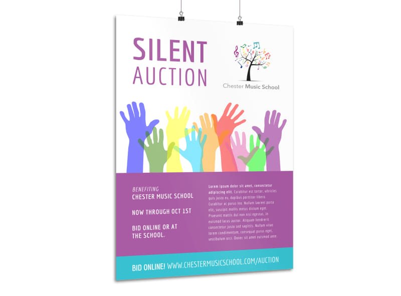 Silent Auction Poster Template Mycreativeshop