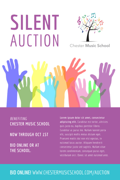 Silent Auction Poster Template Preview 1