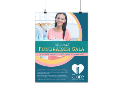 Annual Fundraising Gala Poster Template preview