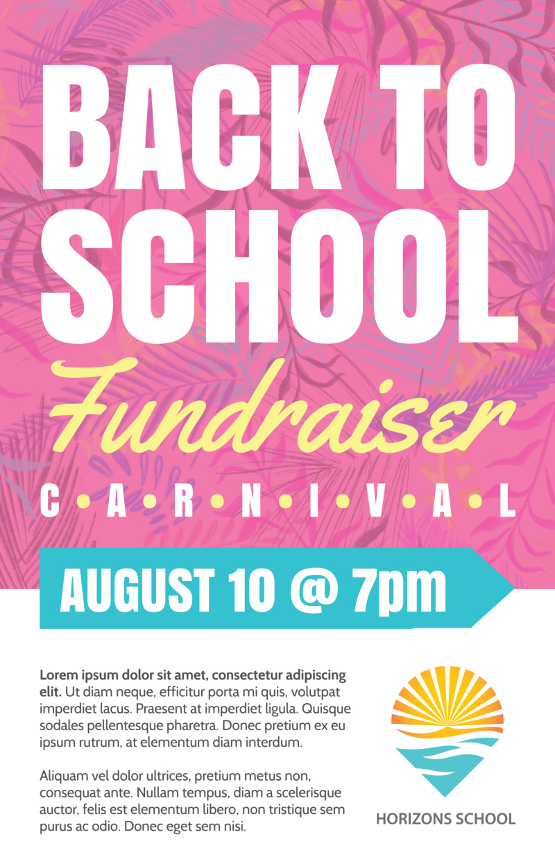 Back To School Fundraiser Poster Template Preview 2