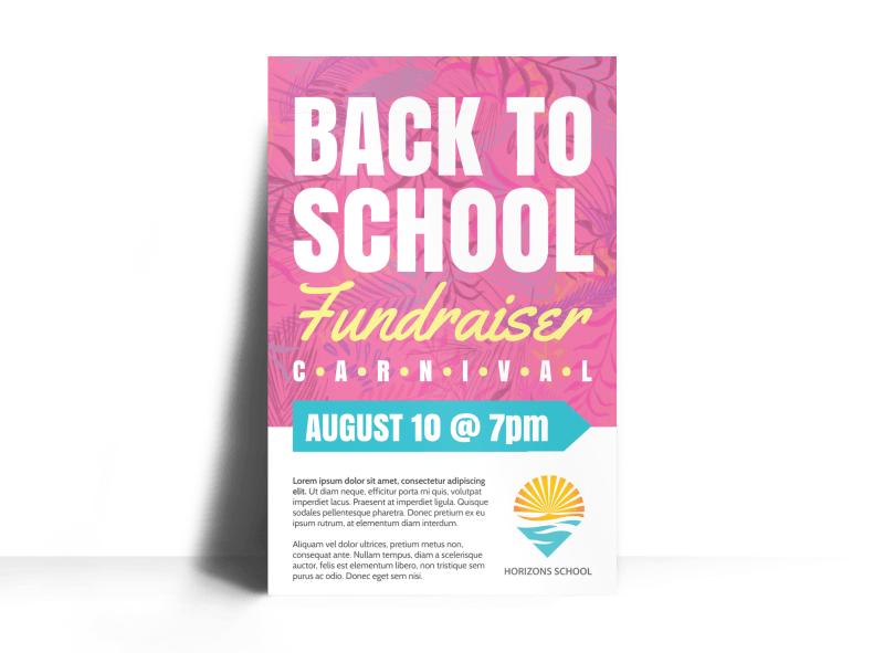 Back To School Fundraiser Poster Template Preview 1