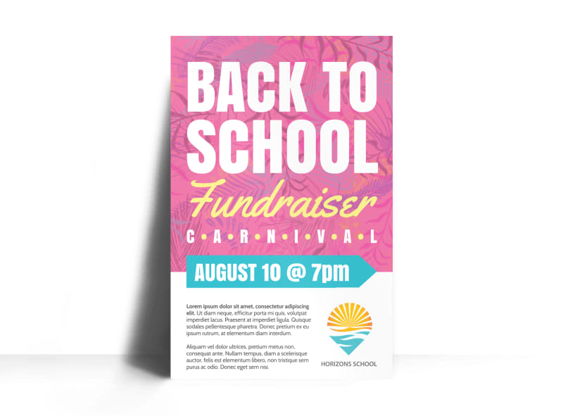 Back To School Fundraiser Poster Template