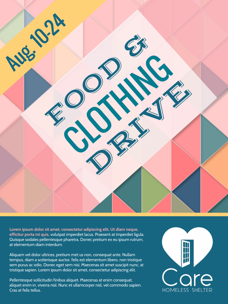 Food & Clothing Drive Poster Template Preview 2