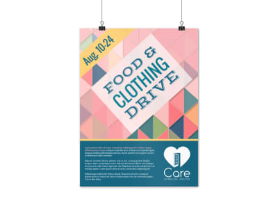 Food & Clothing Drive Poster Template preview