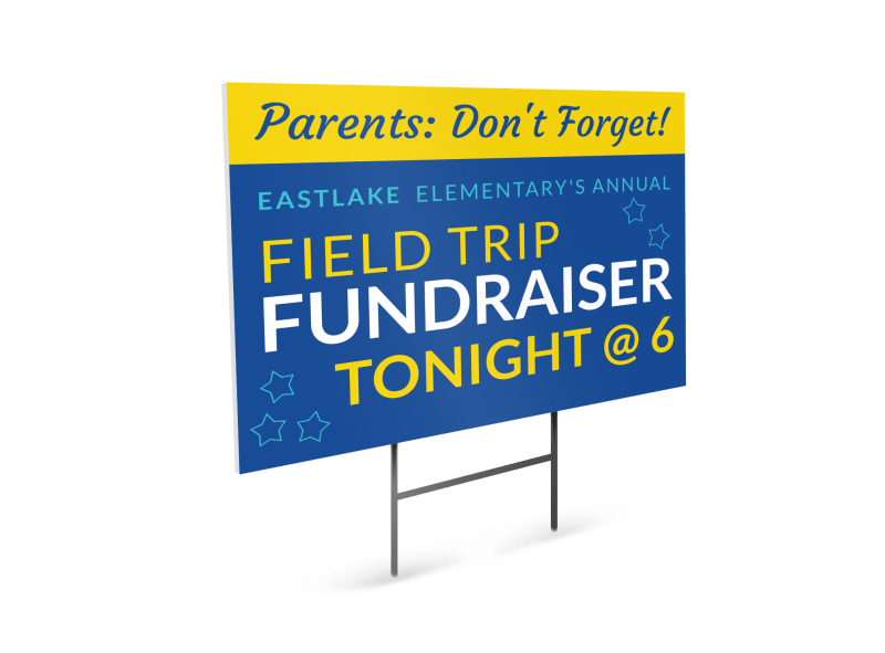 Field Trip Fundraiser Yard Sign Template Preview 1
