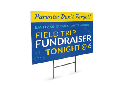 Field Trip Fundraiser Yard Sign Template preview