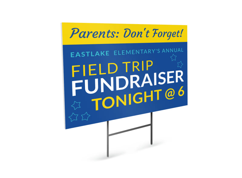 Field Trip Fundraiser Yard Sign Template Preview 4
