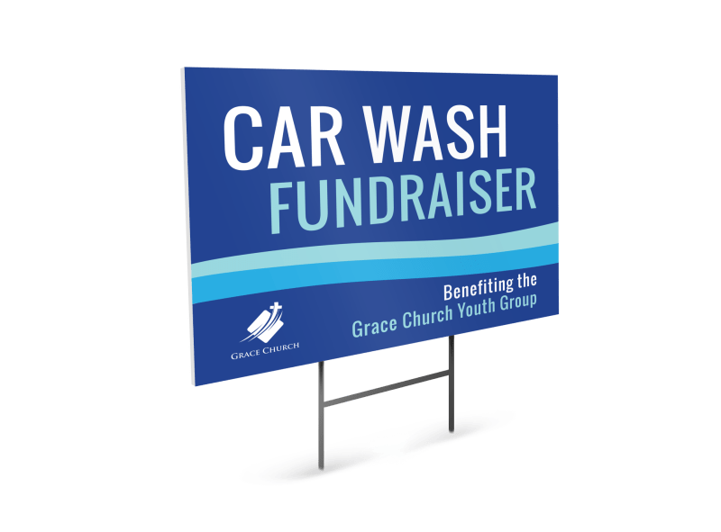 Car Wash Fundraiser Yard Sign Template Preview 1