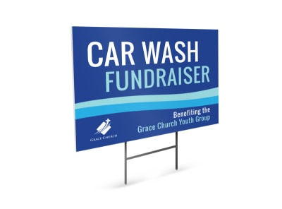 Car Wash Fundraiser Yard Sign Template preview
