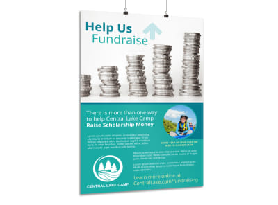 Help Us Fundraise Poster Template preview