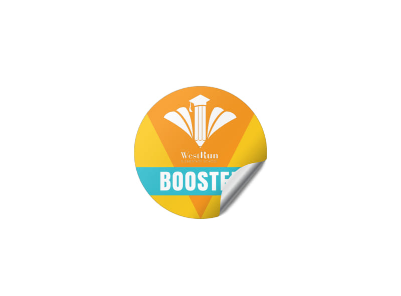 Fundraising Booster Sticker Template