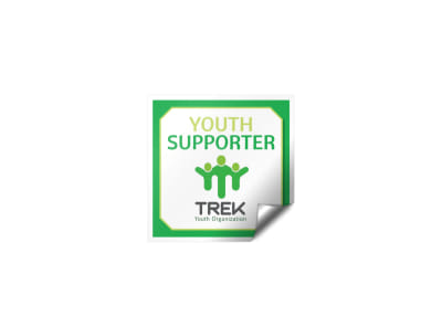 Youth Supporter Fundraising Sticker Template preview