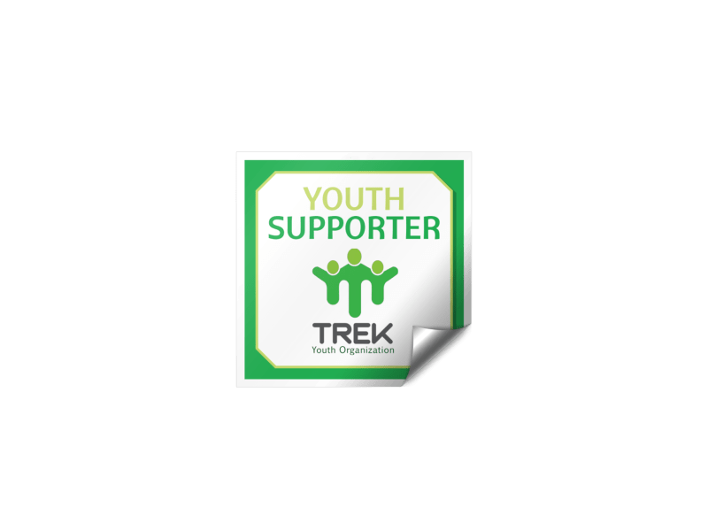 Youth Supporter Fundraising Sticker Template Preview 1