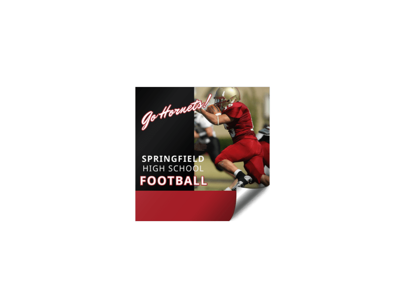Football Booster Sticker Template Preview 1