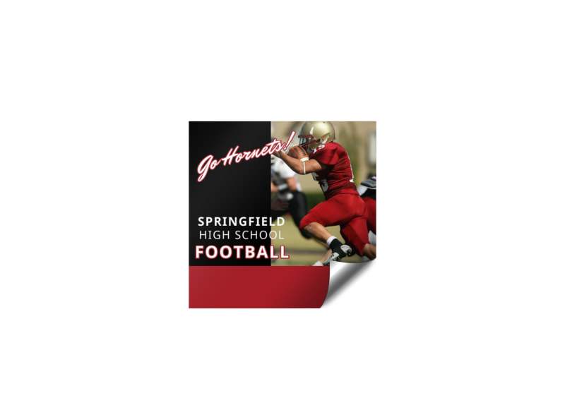 Football Booster Sticker Template